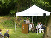 On Saturday, August 13, 2005, an interpretive wayside was dedicated<br /> at the site of the surviving structures of the Catoctin Aqueduct<br /> at mile 51.5. C&O Canal NHP Superintendent Kevin Brandt spoke at the ceremony.
