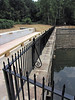 8/21/2011  Railings compatible with the appearance of the original railings are installed on the towpath parapet.