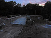 7/27/2011  Sunset at the Catoctin Aqueduct. The floor of the aqueduct is being finished.