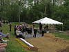April 24, 2010__Amidst the largest gathering of federal, state and local officials along the canal since July 1828, when President John Quincy Adams struck rock in Georgetown, park officials and politicians celebrated the groundbreaking of the restoration of the Catoctin Aqueduct, one of 11 stone mason-constructed aqueducts in the park.