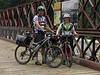 6/20/2011__Father/Daughter Thru-Rider team, Dave and Liz from Colorado, pause to check out the restored Catoctin Aqueduct.