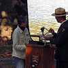 C&O Canal Association receives award accepted by President Rachel Stewart