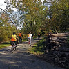 C&O Canal Volunteer Bike Patrollers on Big Slackwater towpath
