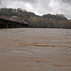 56 Town of Harpers Ferry, WV across flooded Potomac River