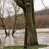 72 Various flood levels marked on pole at Point of Rocks