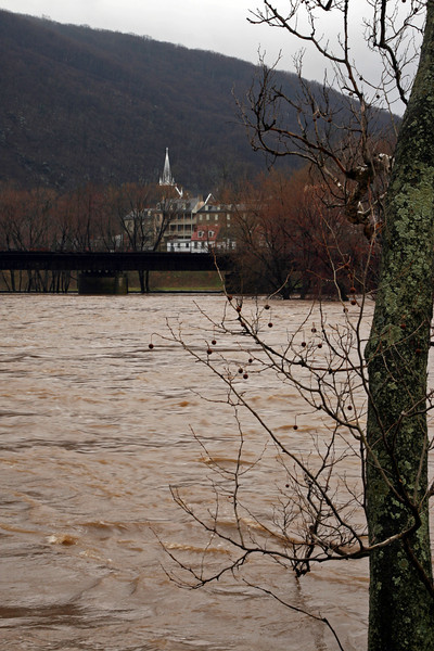 40 Town of Harpers Ferry, WV across flooded Potomac