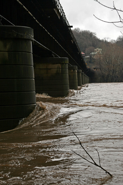 50 Raging Potomac  under CSX bridge at Harpers Ferry