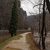42 Flooded Potomac_Towpath at Maryland Heights cliffs