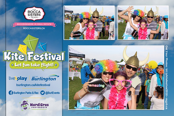 Kite Festival 2018, City of Burlington presented by the Rocca Sisters Team