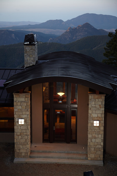 Conifer, CO - Home in the Rocky Mountains in Conifer CO - Date: Saturday May 7, 2011 Photo by © Todd Buchanan 2011 Technical Questions: todd@toddbuchanan.com; Phone: 612-226-5154.