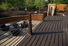 Minnetonka,  - Trace Ridge Rd in Minnetonka - Backyard, retaining wall, railing, table and art work. Photo by © Todd Buchanan 2012 Technical Questions: todd@toddbuchanan.com;