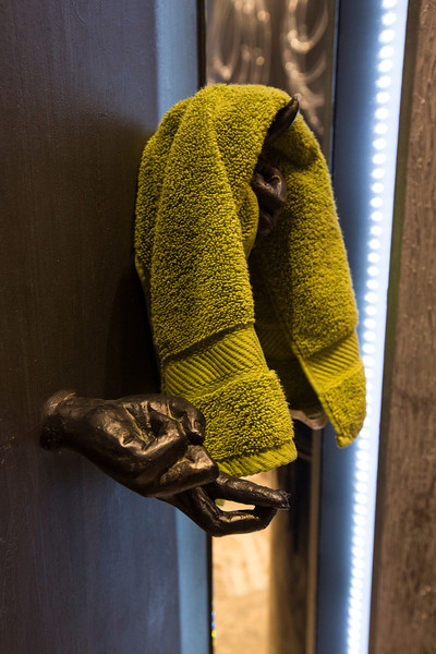 Minnetonka, MN - Trace Ridge bathroom Powder room here today, Tuesday April 2, 2013.  Photo by © Todd Buchanan 2013 Technical Questions: todd@toddbuchanan.com; Phone: 612-226-5154. Keywords: