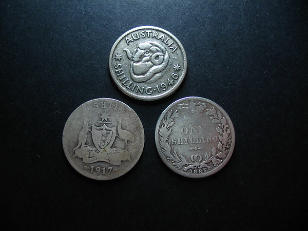 Antique and Vintage Australian Silver Coins.