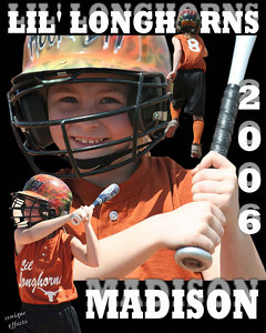 A THREE IMAGE COLLAGE IS A GREAT WAY TO REMEMBER YOUR CHILD'S SEASON IN ANY SPORT.