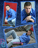 Blue Paint Crackeling 3pic collage