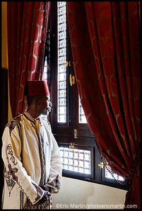 EGYPTE. ASSOUAN. HOTEL OLD CATARACT SOFITEL LEGENDE. MOHAARAM LE PORTIER