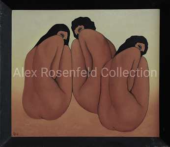 "Novgorodtsev ""Three Graces"", 1983. Oil on board. 20""x24"""