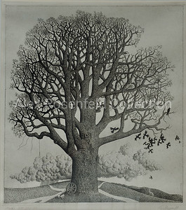 "Valery Mishin ""The Tree"", 1981. Etching on paper. 21""x18"""