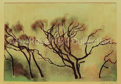 "Solomon Epstein ""Graphics of Branches"", 1992. Paper, watercolor. 9.5""x14"""