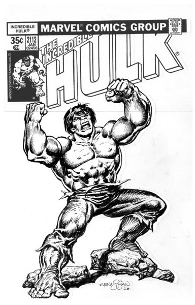 The Incredible Hulk 219 Splash Page Recreation by Ernie Chan