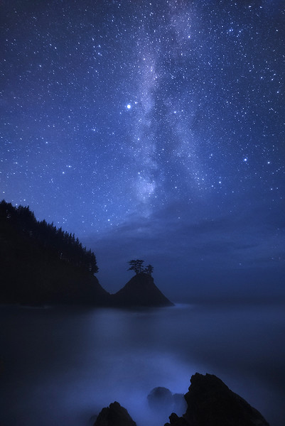 """Edge of Earth - Night""  (Oregon Coast)"
