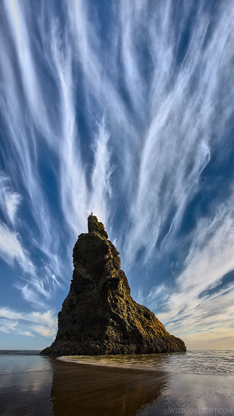 """Wild Light at Homage Rock"" (Oregon)"