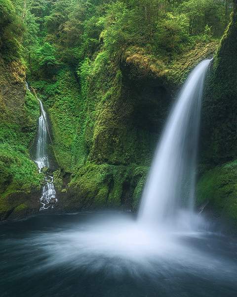 """Inside Metlako Falls""  (Oregon)"