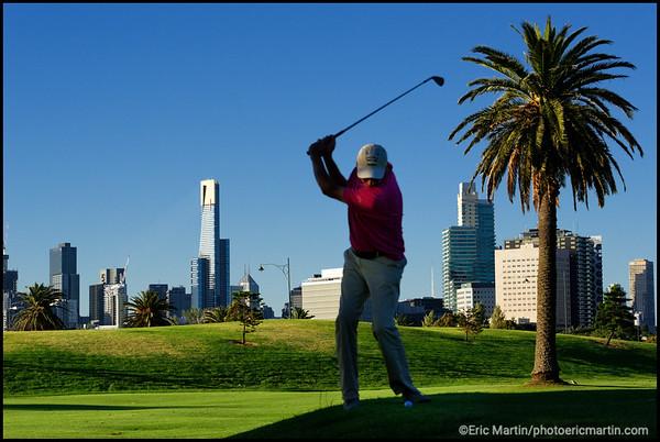 AUSTRALIE GOLF. MELBOURNE. Albert Park Public Golf Club
