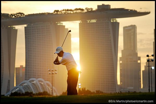 GOLF A SINGAPOUR. GOLF DE MARINA BAY.