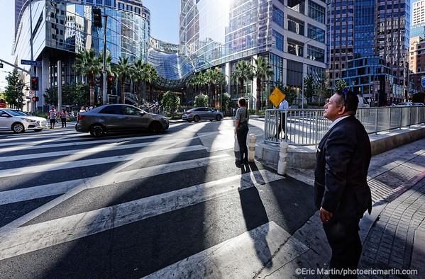 LOS ANGELES. DOWNTOWN. CROISEMENT DE  FIGUEROA ET LA 7TH STREET