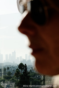 LOS ANGELES. DOWNTOWN VU DEPUIS  WEST HOLLYWOOD.