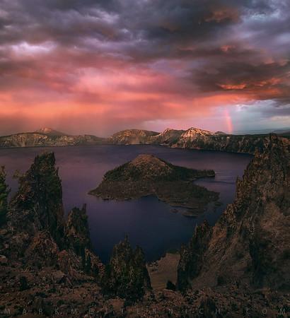 Alien Light at Crater Lake