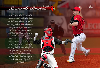 A Print i designed for coach McDonnell.  This print is hanging up in the UofL Baseball Locker room.