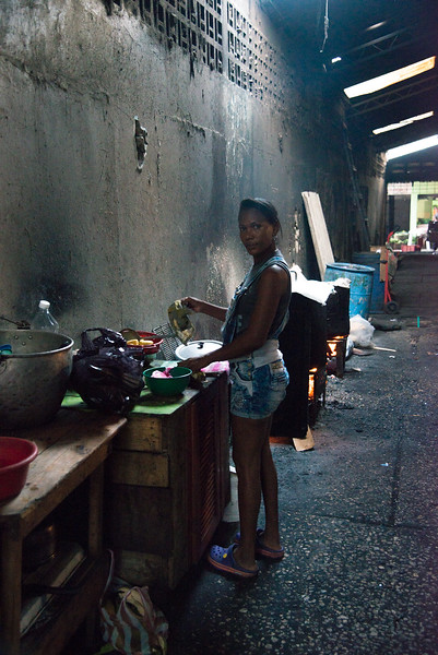 In the cavernous Basutro Market, Cartagena, in the early morning hours.