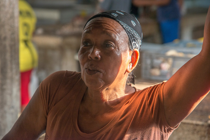 Friendly vendor at the Basutro Market.