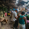 Even at 6:00 am, the Basutro Market is active.