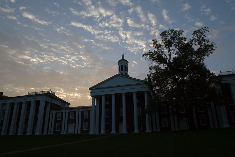 Summer sunset over the Colonnade.