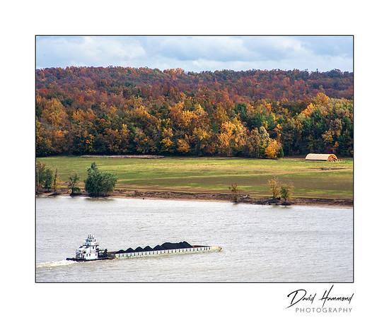 Coal Barge on Ohio River
