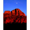 Moonrise over Sedona red rocks