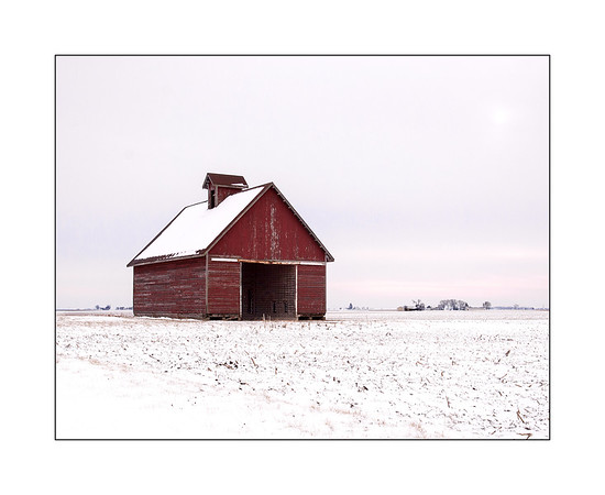 Central Illinois Barn in winter.