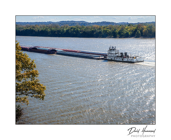 Barge on Ohio River