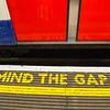 Mind the gap, warning in the London underground