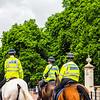 Police on horseback in London