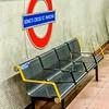 LONDON, ENGLAND - SEP 30: Underground Kings Cross tube station in London on September 30, 2012. The London Underground is the oldest underground railway in the world covering 402 km of tracks.