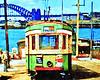 R1 tram #2010 at Darling Street wharf 1950 bound for Rozelle, Sydney.