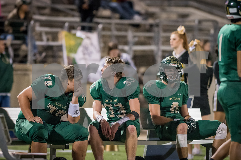 The Canyon Lake High School Varsity football team lost to the La Vega Pirates, 14 - 33. [Dec. 1, 2017]