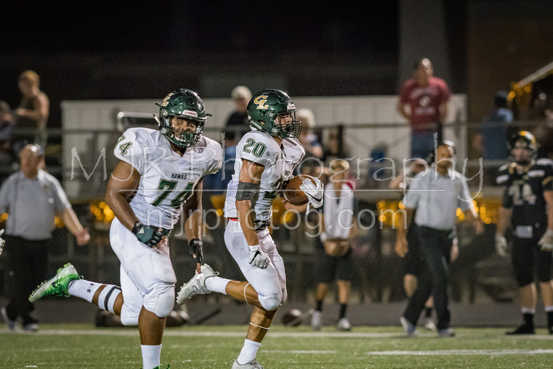 The Canyon Lake Hawks Varsity Football lost to the Giddings High School Bufaloes (non-conference), 28 - 23. [Sep. 15, 2017]