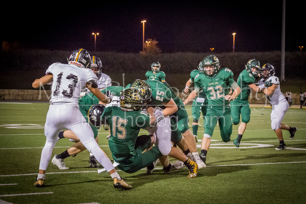 The Canyon Lake High School Varsity football team defeated Gatesville High School, 31 - 21, to capture the Bi-District title. [Nov. 18, 2017]