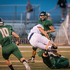 """Canyon Lake High School lost their homecoming game and annual """"Battle of the Backbone"""" to the Wimberley Texans, 20 - 13. [Sep. 22, 2017]"""