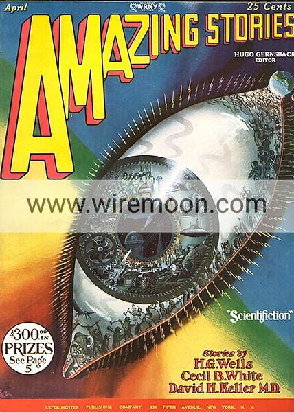 Amazing Stories Vol 3 # 1 April 1928.